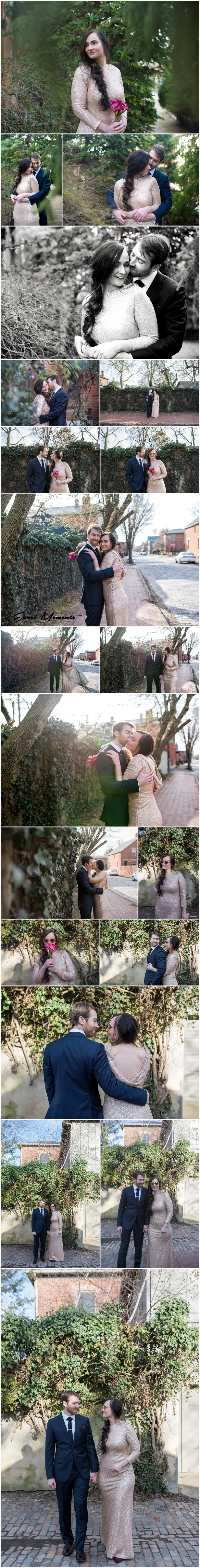 German Village Bride and Groom photos